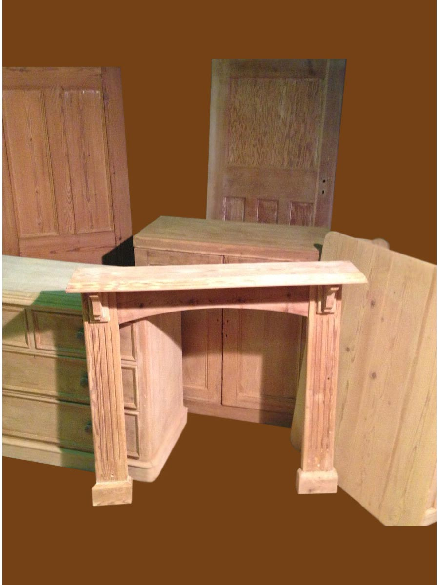 Stripped fire surround and other furniture